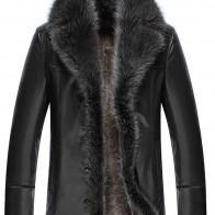 US $38.5 35% OFF|Faux Fur Collar men Faux Leather Jackets Winter Thicken Coat jaqueta de couro chaqueta  PU Leather jacket men -in Faux Leather Coats from Men