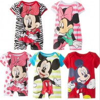 US $5.96 23% OFF|Summer Baby Rompers Cotton Baby Girl Clothes Disney Mickey Baby Boy Clothes Newborn Baby Clothes Roupas Bebe Infant Jumpsuits-in Rompers from Mother & Kids on Aliexpress.com | Alibaba Group
