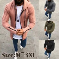 Men Long Sleeve Hooded Jacket Casual Zipper Coat Slim Fit Casual Pullovers Outwear Hoodies Blouse (4 Colors,Size M-3XL) jacket @ VOVA