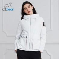 Женская куртка с капюшоном ICEbear, повседневная куртка с капюшоном, весна 2020, GWC20728I