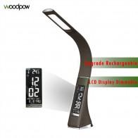 US $38.78 32% OFF|Woodpow Leature Textur LED Schreibtisch Lampe Wiederaufladbare Dimmbare Touch Tisch Lampe mit Kalender Temperatur Wecker Tisch Licht-in Schreibtischlampen aus Licht & Beleuchtung bei Aliexpress.com | Alibaba Gruppe