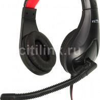 Гарнитура OKLICK HS-L100,  черный  / красный