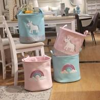 913.48 руб. 41% СКИДКА|44*33*40 см 2018 новая корзина для хранения единорога для игрушек ткань с радужным принтом розовая корзина для детской Складная Прачечная Корзина-in Корзины для хранения from Дом и сад on Aliexpress.com | Alibaba Group