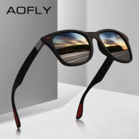 US $9.89 45% OFF|AOFLY NEW DESIGN Ultralight TR90 Polarized Sunglasses Men Women Driving Square Style Sun Glasses Male Goggle UV400 Gafas De Sol-in Men