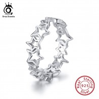 US $4.05 45% OFF|ORSA JEWELS 100% Real 925 Sterling Silver Women Finger Ring Hollowed Star Patchwork 6MM High Polished Shiny Silver Jewelry SR103-in Rings from Jewelry & Accessories on Aliexpress.com | Alibaba Group