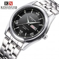 US $9.88 34% OFF|Men Watches 2019 Brand New Kingnuos Steel Waterproof Quartz Wristwatch for Men Saat Date Week Display Luminous Hour Reloj Hombre-in Quartz Watches from Watches on Aliexpress.com | Alibaba Group