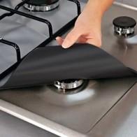 4 шт набор многоразовое покрытие из фольги защитное покрытие для газовой плиты антипригарная плита горелки обшивка коврик чистый вкладыш д...