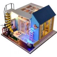 Diy Кукольный дом ручной работы модель дома теплая и модная вилла с плавательным бассейном для отправки семейной любви и креативного подарка... - Куклы