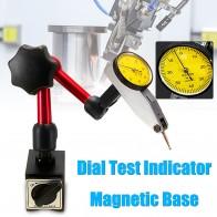Mini Universal Flexible Dial prueba indicador Base magnética soporte Dial prueba indicador herramienta corrección magnética soporte-in Relojes comparadores from Herramientas on AliExpress