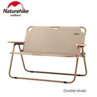 Naturehike 2020 новый двойной деревянный стул для кемпинга, рыбалки, может для офиса, кемпинга, светильник, деревянное зернистое кресло для сна, Пля... - Покупаем для дачи