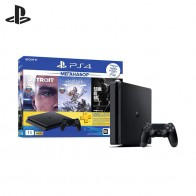 Sony PlayStation 4 Slim (1TB) Black (CUH 2208B) + игра «HZD» + игра «Detroit» + игра «TLOU» + PS Plus 3 мес.-in Игровые консоли from Бытовая электроника on AliExpress