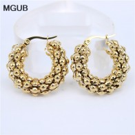 US $2.85 20% OFF|MGUB 30 50mm diameter 7mm thick gold/silver color Popcorn Hollow Lightweight stainless steel earring popular smooth gift-in Hoop Earrings from Jewelry & Accessories on Aliexpress.com | Alibaba Group