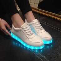 655.61 руб. 39% СКИДКА|Высокое качество европейский размер 27 42 7 цветов детские светящиеся кроссовки светящиеся USB зарядка Мальчики светодиодные туфли для девочек обувь кроссовки со светодиодными лампочками белый купить на AliExpress
