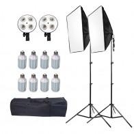 3883.9 руб. 45% СКИДКА|ASHANKS светодио дный софтбокс с легкой подставкой Softbox набор для фото фотостудия освещение ящик для DSLR Fotografia E27 Blubs лампы купить на AliExpress