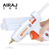 US $6.67 49% OFF|AIRAJ Hot Melt Glue Gun 50W/80W/60 100W/120W with 5/10 Glue Stick and EU Conversion Head High Power Heating Bonding Tool-in Glue Guns from Tools on Aliexpress.com | Alibaba Group