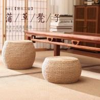 Простая маленькая скамейка из ротанга, круглая соломенная скамейка для обуви, домашний диван, скамейка, барный стул, детская мебель - Ваш красивый дом