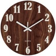 12-дюймовые настенные часы с функцией ночного освещения, винтажные деревенские Тосканские часы для кухни, офиса, домашний бесшумный и не тик...