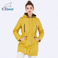 US $39.45 58% OFF|ICEbear 2019 New Brand Clothing Women Spring  Parka Womens Long Thin Jacket With Hat Detachable  Warm Coat 16G262D-in Parkas from Women