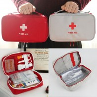 Portable Camping First Aid Kit Emergency Medical Bag Waterproof Car kits bag Outdoor Travel Survival kit Empty bag Househld