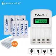 1149.98 руб. 25% СКИДКА|PALO lcd зарядное устройство ЖК дисплей с 4 слотами быстрое умное зарядное устройство C907W для AA/AAA Ni MH Ni CD батарея + 4 шт. AA + 4 шт. AAA батареи-in Подзаряжаемые батареи from Бытовая электроника on Aliexpress.com | Alibaba Group