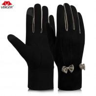 194.08 руб. 42% СКИДКА|Vbiger женские зимние теплые перчатки Сенсорный экран перчатки с прекрасным бантом теплые зимние перчатки мягкие холодной купить на AliExpress