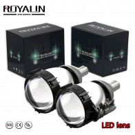 "RPYALIN Car Bi LED 2.5"" Inch Projector Lens Super Bright LED Headlights Hi/Lo Beam Universal Auto Motorcycle Retrofit Headlights"