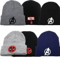 Шапка с героями Marvel, Дэдпул, модель Мстителей, мультяшный Человек-паук, Модная вязаная шапка, зимняя теплая шапка, милые подарки для мальчико...