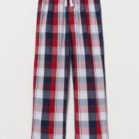 Хлопковые пижамные брюки - Красный/Клетка - Дети | H&M RU
