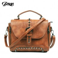 US $18.43 52% OFF|ZMQN Crossbody Bags For Women 2019 Shoulder Bags Female Vintage Leather Bags Women Handbags Famous Brand Rivet Small Ladies A522-in Shoulder Bags from Luggage & Bags on Aliexpress.com | Alibaba Group
