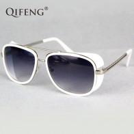 QIFENG стимпанк очки солнцезащитные очки Для мужчин Брендовая Дизайнерская обувь Винтаж Железный человек 3 Солнцезащитные очки для ретро UV400 мужской Óculos de sol QF027 купить на AliExpress