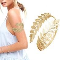 Золотой Серебряный греко-римские лавровый лист браслет на руку верхняя рука манжета нарукавник фестиваль свадебные украшения для танца жи...