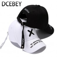 US $3.59 54% OFF|Fashion Embroidery Baseball Cap for Men Summer Black Cotton Caps Women bone Hip Hop Snapback Cap Male Adjustable Dad Hats White-in Men