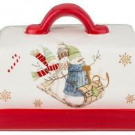 Купить Масленка Зимняя забава Agness (358-1673) по низкой цене с доставкой из Яндекс.Маркета - Посуда для праздника