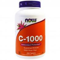Now Foods, C-1000, 250таблеток