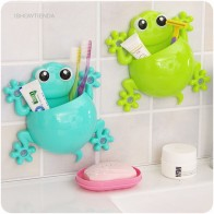 US $0.61 5% OFF|ISHOWTIENDA Hot Bathroom Accessories Set Cartoon Gecko Toothpaste Holder Wall Sucker Hook Tooth Brush Holder Toothbrush Holder-in Storage Shelves & Racks from Home & Garden on Aliexpress.com | Alibaba Group