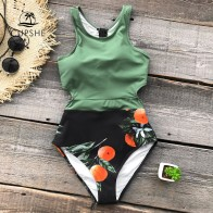 880.83 руб. 10% СКИДКА|CUPSHE/зеленый купальник с принтом Miss U, цельный женский купальник с бантиком и вырезом, монокини, 2019 г., пляжный купальный костюм для девочек, купальники купить на AliExpress