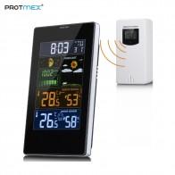 2104.93 руб. 30% СКИДКА|Protmex PT3389 Беспроводная цветная метеостанция, ЖК дисплей будильник с наружной/комнатной температуры влажности-in Приборы для измерения температуры from Орудия on Aliexpress.com | Alibaba Group