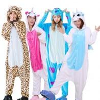 885.28 руб. 40% СКИДКА|Теплые фланелевые пижамы взрослые животные пижамы наборы мультфильм Единорог панда стежка Хэллоуин пижамы косплей для женщин мужчин Onsies купить на AliExpress