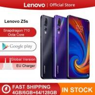 Lenovo Z5s смартфон с восьмиядерным процессором Snapdragon 710, ОЗУ 6 ГБ, ПЗУ 128 ГБ, 6,3 AI