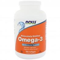 Now Foods, Омега-3, 180ЭПК/120ДГК, 500мягких таблеток