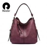 1855.06 руб. 41% СКИДКА|REALER сумка с короткими ручками,  бренд модная большая большая сумка женская через плечо, дамская сумка хобо из искусственной кожи для женщин купить на AliExpress