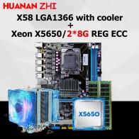 10397.09 руб. 47% СКИДКА|Новый HUANAN Чжи X58 материнской скидка материнской платы с Процессор Intel Xeon X5650 2,66 ГГц с охладитель Оперативная память 16G (2*8G) ECC REG-in Материнские платы from Компьютер и офис on Aliexpress.com | Alibaba Group