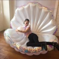 Гигантский надувной бассейн 170 см, новый дизайн, летняя надувная кровать для воды, раскладушка с жемчужными раковинами, гребешок, 2019 - Покупаем для дачи