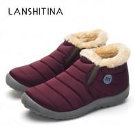 957.52 руб. 58% СКИДКА|2018 г. новые зимние теплые ботинки с хлопковой подкладкой на нескользящей подошве, теплые непромокаемые лыжные ботинки на меху, повседневная обувь с плюшевой подкладкой, размер 35 48 купить на AliExpress