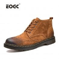 1701.43 руб. 45% СКИДКА|Мужские ботинки из натуральной кожи; сезон осень зима; ботильоны; модная обувь на шнуровке; Мужская винтажная обувь высокого качества-in Базовые сапоги from Туфли on Aliexpress.com | Alibaba Group