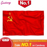 Red CCCP Flag 90x150mm Union of Soviet Socialist Republics 3x5