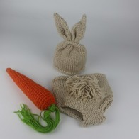 US $8.61  Newborn Photography Props Bunny Crochet Knitting Costume Set Rabbit Hats and Diaper Beanies and Pants Newborn Outfits Accessory-in Hats & Caps from Mother & Kids on Aliexpress.com   Alibaba Group