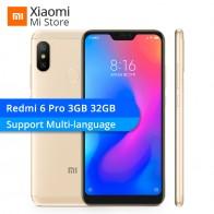 9157.28 руб. |Xiaomi Redmi 6 Pro 3 Гб 32 Смартфон Snapdragon 625 Octa Core 5,84