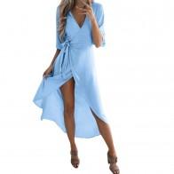 633.64 руб. 27% СКИДКА|Для женщин летние, пляжные, в богемном стиле Повседневное длинное платье сексуальное платье с v образным воротом, Вечеринка пляжное платье открытое легкое платье Longue Femme-in Платья from Женская одежда on Aliexpress.com | Alibaba Group