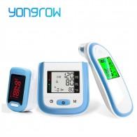 € 27.34 30% de DESCUENTO|Oxímetro de pulso Yongrow LED de punta de dedo y Monitor de presión arterial LCD para muñeca y termómetro infrarrojo de oreja para bebé regalo para el cuidado de la Salud Familiar-in Presión arterial from Belleza y salud on Aliexpress.com | Alibaba Group